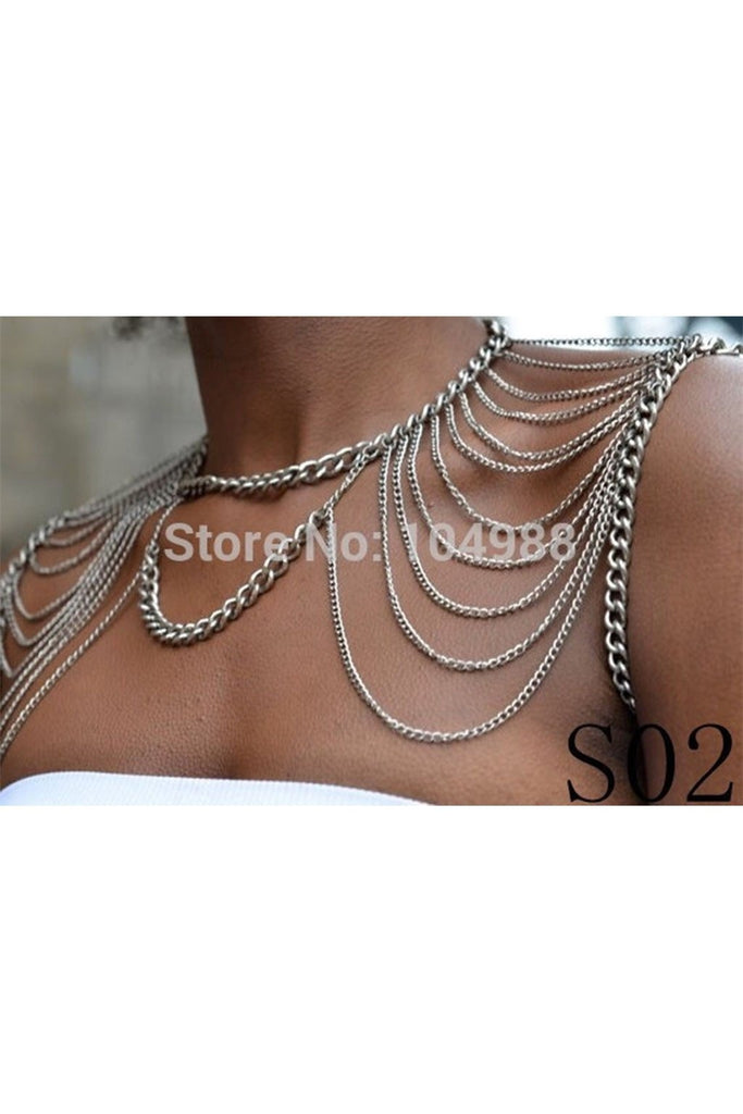 Shoulder Bodychain-BODY JEWELRY-Fierce Finds Mobile Boutique