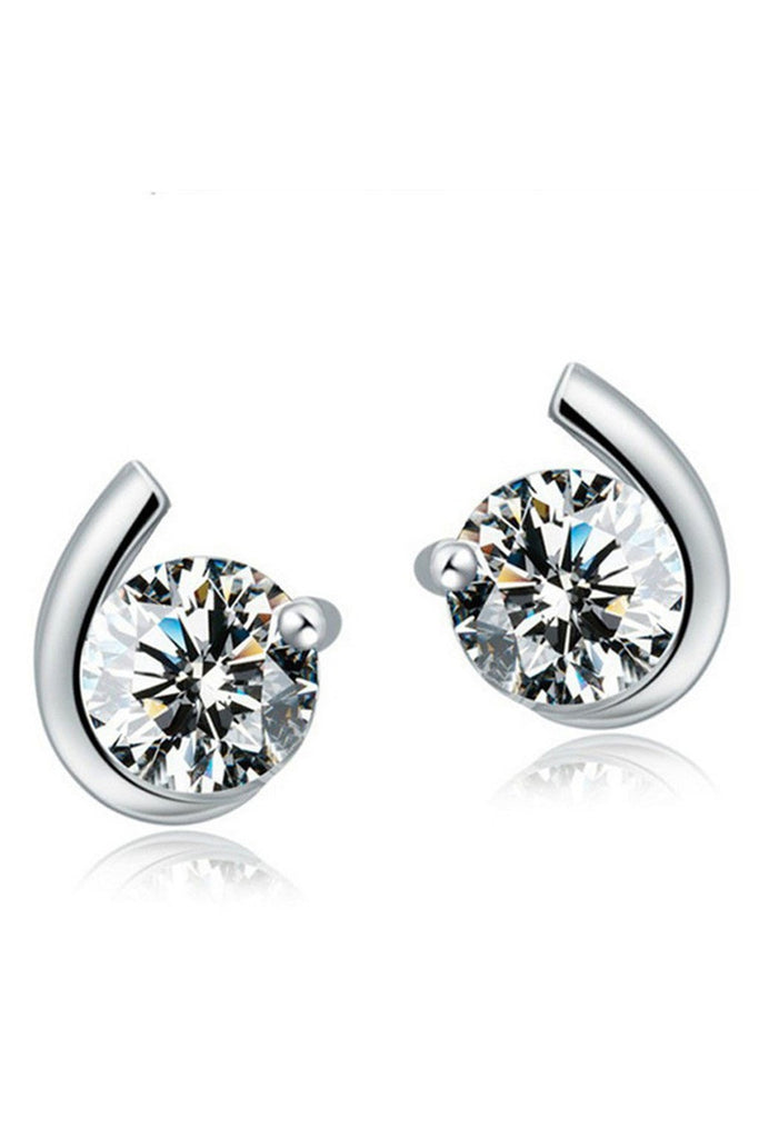 Simply Elegant Studs Sterling Silver - Fierce Finds Mobile Boutique  - 1
