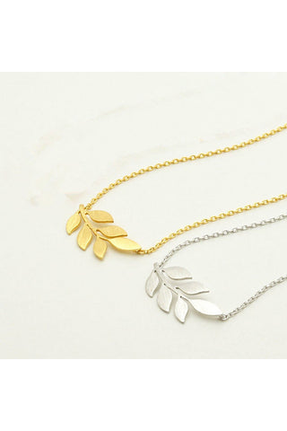 Small Leaf Bracelet -Stainless Steel - Fierce Finds Mobile Boutique  - 1