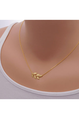 Small Leaf Necklace -Stainless Steel - Fierce Finds Mobile Boutique  - 1