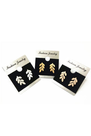 Small Leaf Stud Earrings-Stainless Steel-EARRINGS-Fierce Finds Mobile Boutique