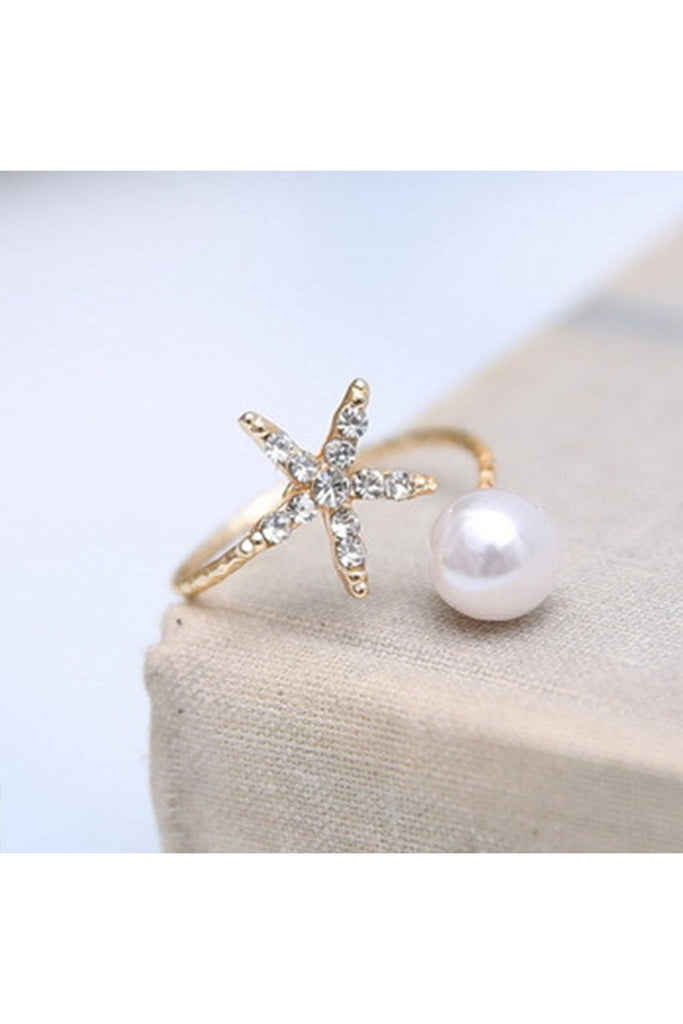 Starfish Pearl  Ring - Fierce Finds Mobile Boutique  - 1