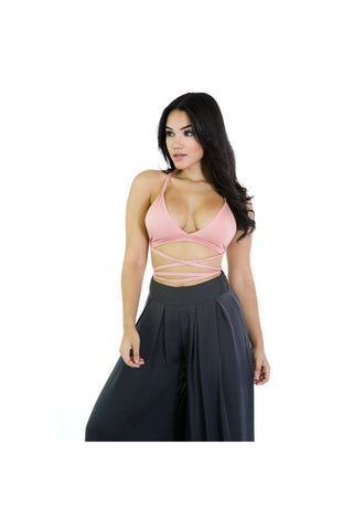 Strappy Crop Top-Women - Apparel - Shirts - Crops-Fierce Finds Mobile Boutique