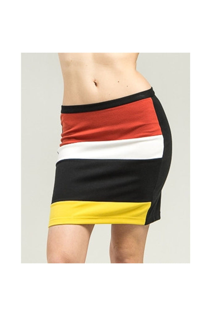 Stripe Multi Color Skirt - Fierce Finds Mobile Boutique  - 1