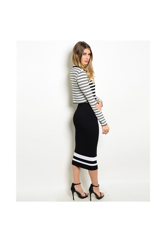 Stripe Skirt Set - Fierce Finds Mobile Boutique  - 1