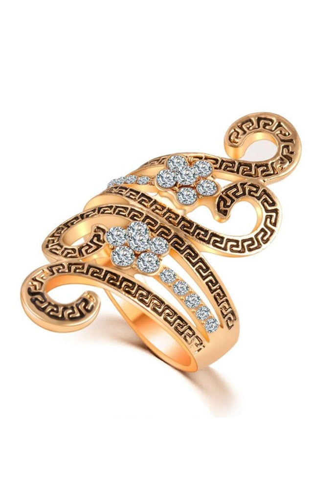 Swirl Flower Ring-Ring-Fierce Finds Mobile Boutique