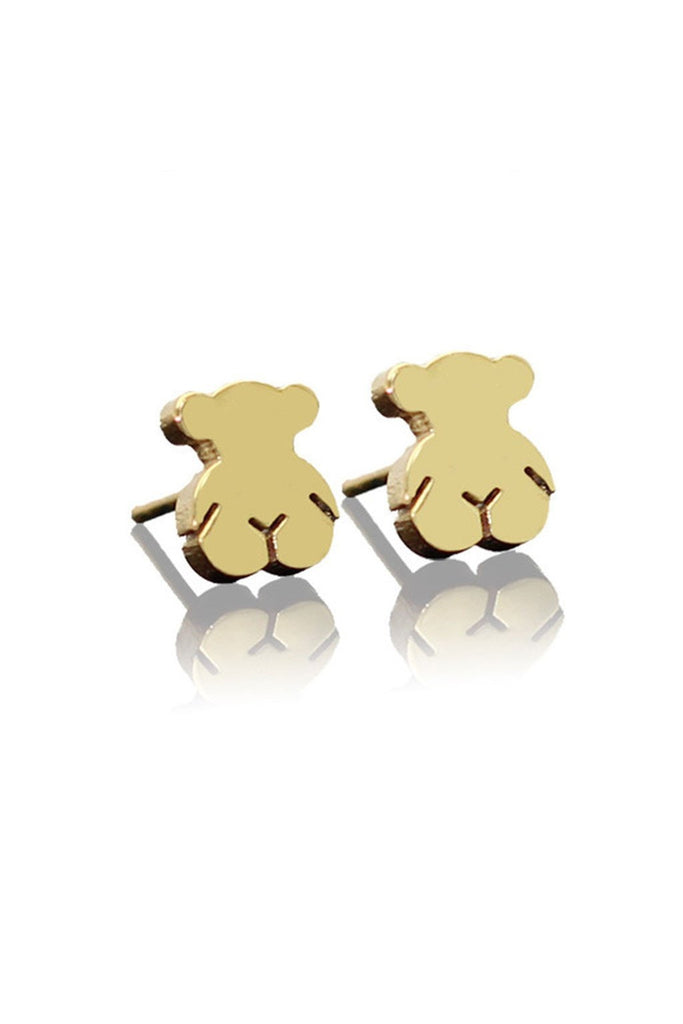 Teddy Bear Stud Earrings - Fierce Finds Mobile Boutique  - 1