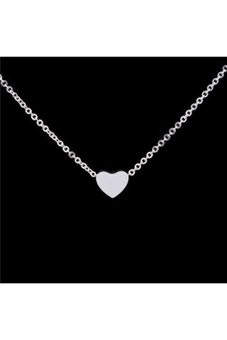 Tiny Heart Necklace  -Stainless Steel - Fierce Finds Mobile Boutique  - 1