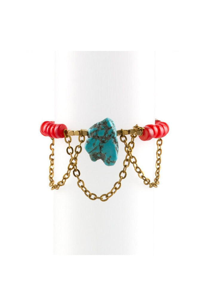 Turquoise Chain Bracelet - Fierce Finds Mobile Boutique  - 1