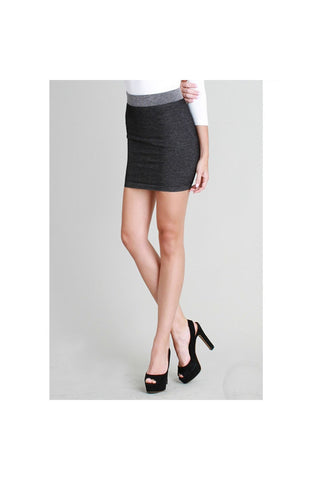 Two Tone Black Skirt-Skirts & Dresses-Fierce Finds Mobile Boutique