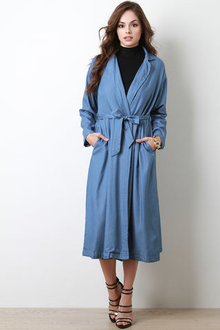 Chambray Trench Jacket