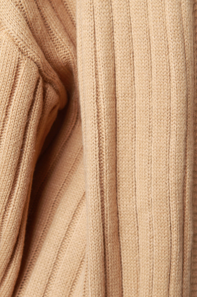 Ribbed Sweater Knit Open Front Longline Cardigan