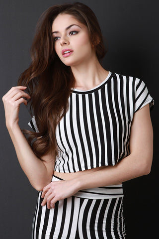 Stripe Gradient Crop Top