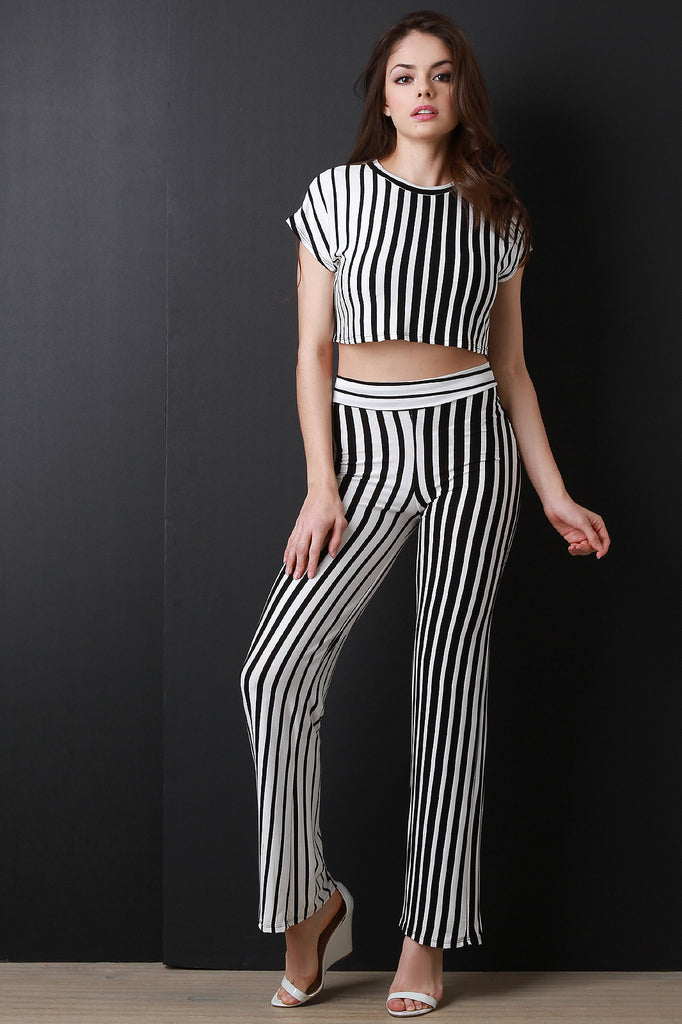 Stripe Gradient Wide Leg Pants