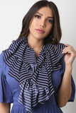 Stripe Ruffled Scarf