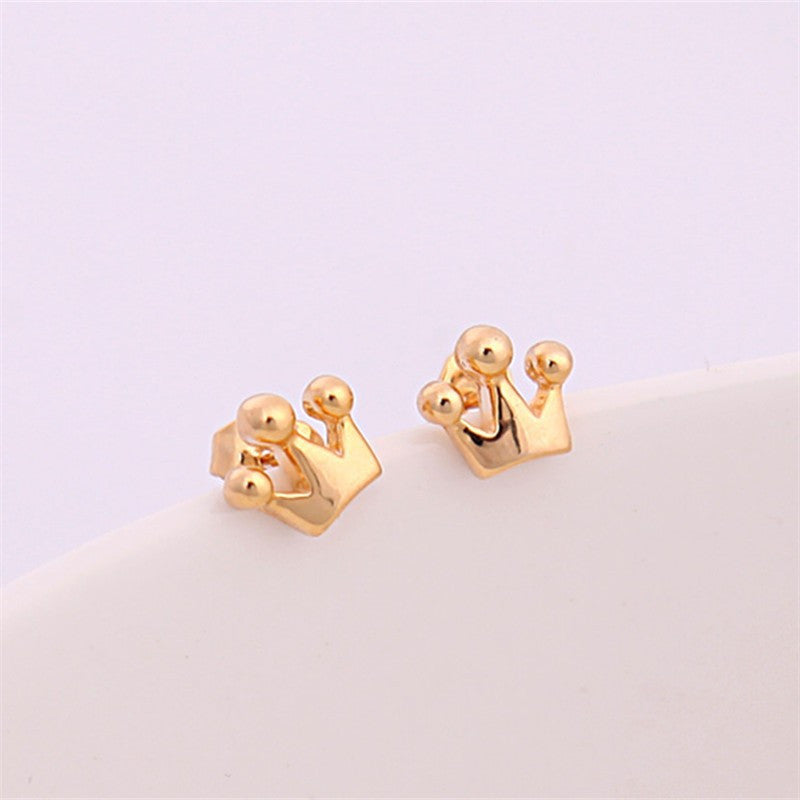 Tiny Crown Stud Earrings - Fierce Finds Mobile Boutique  - 2