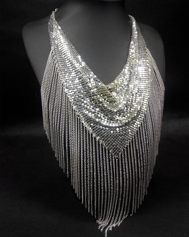 Fringe Mesh Necklace - Fierce Finds Mobile Boutique  - 2