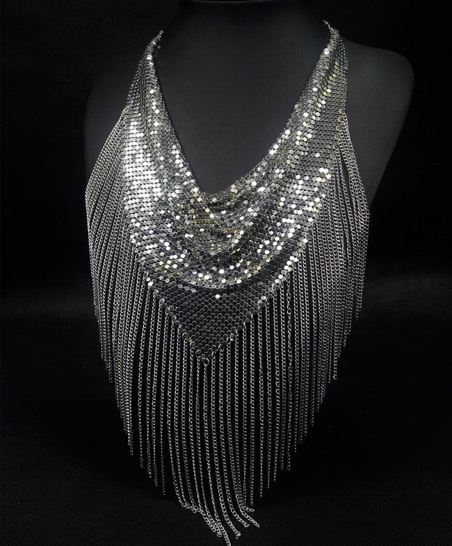 Fringe Mesh Necklace - Fierce Finds Mobile Boutique  - 7