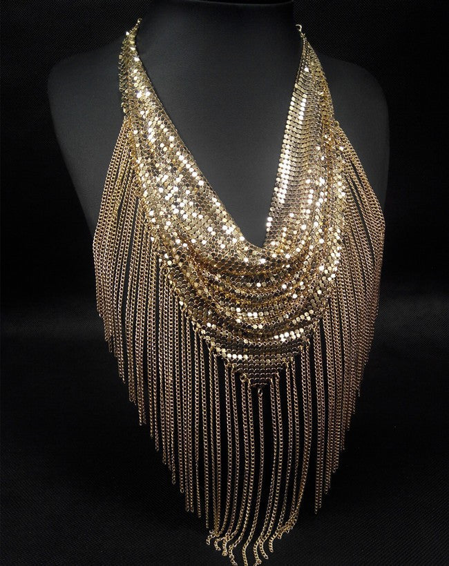 Fringe Mesh Necklace - Fierce Finds Mobile Boutique  - 3