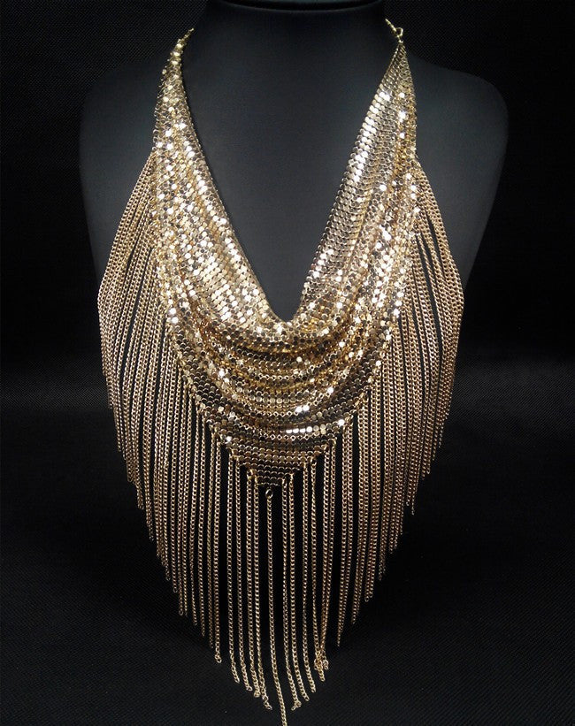 Fringe Mesh Necklace - Fierce Finds Mobile Boutique  - 4
