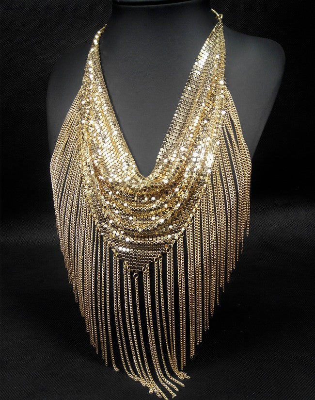 Fringe Mesh Necklace - Fierce Finds Mobile Boutique  - 5