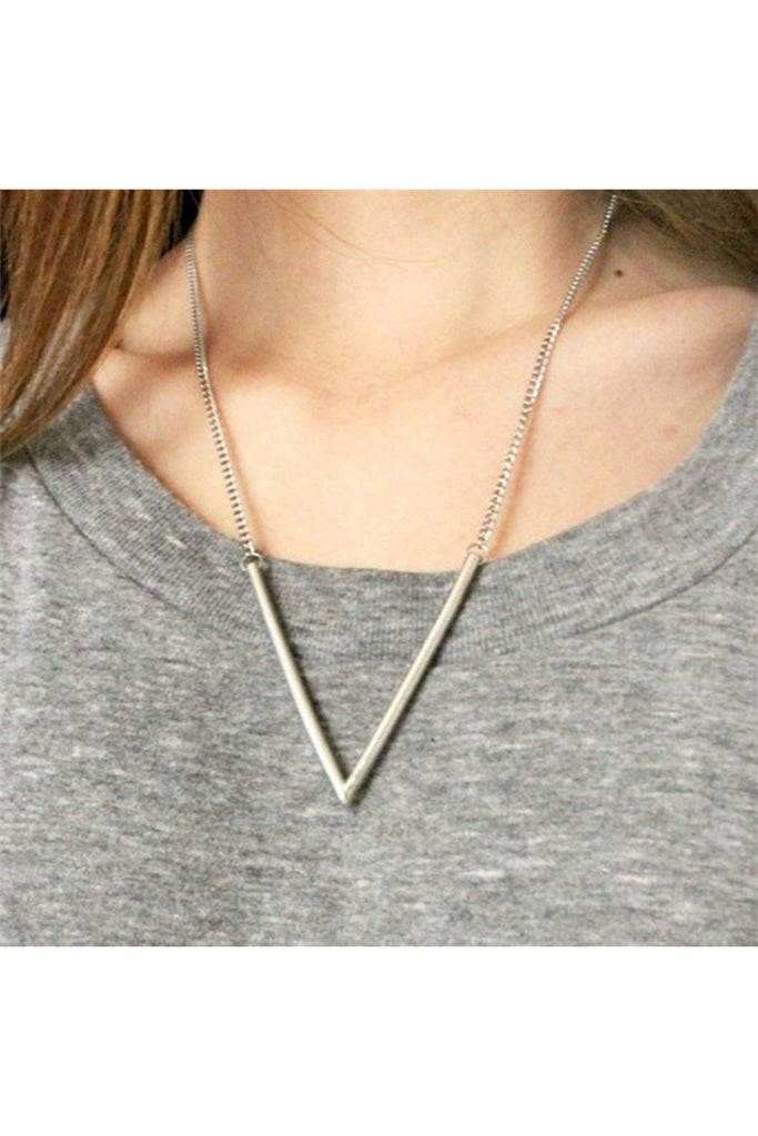 V Necklace-NECKLACE-Fierce Finds Mobile Boutique