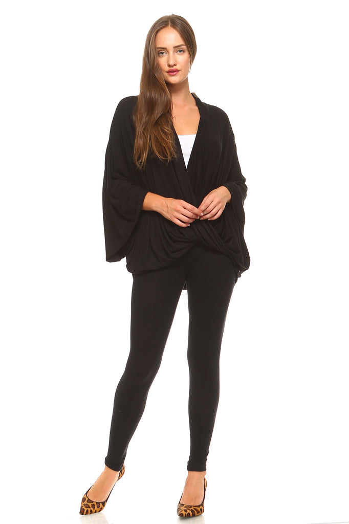 Women's Bell Sleeve Cross V-Neck Top