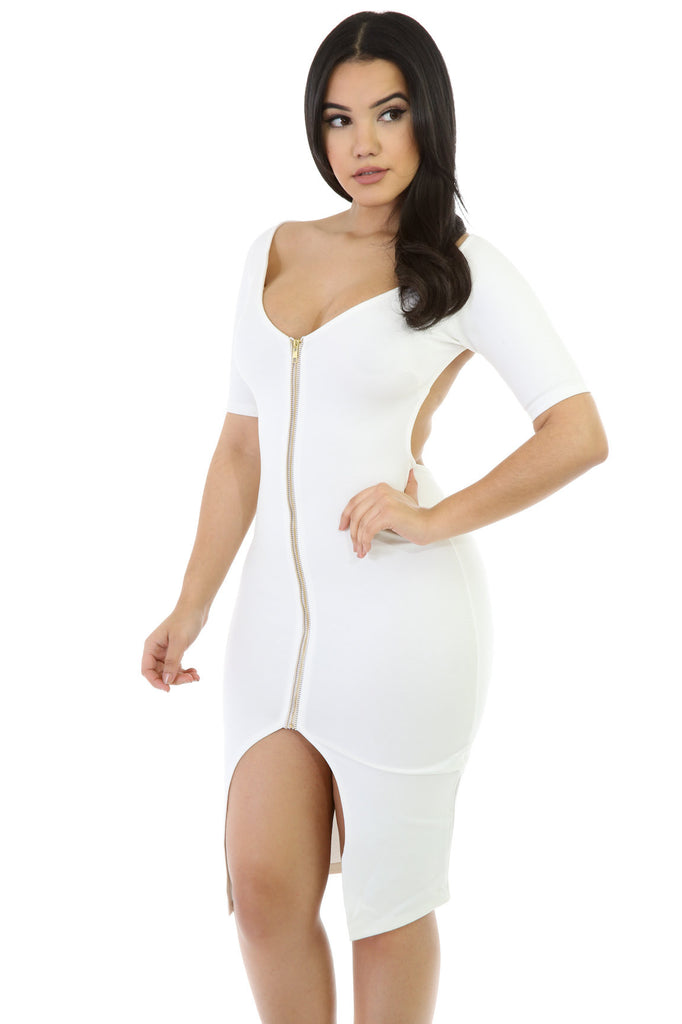 White Haute Dress - Fierce Finds Mobile Boutique  - 3