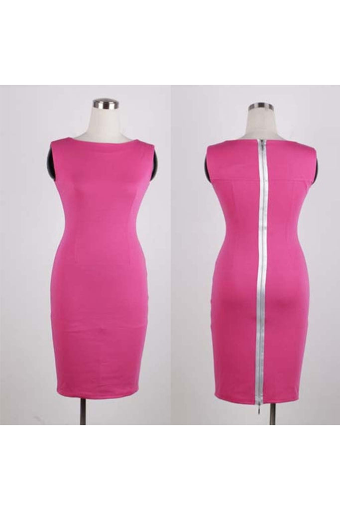 Werk It Pink Sheath-Women - Apparel - Dresses - Day to Night-Fierce Finds Mobile Boutique
