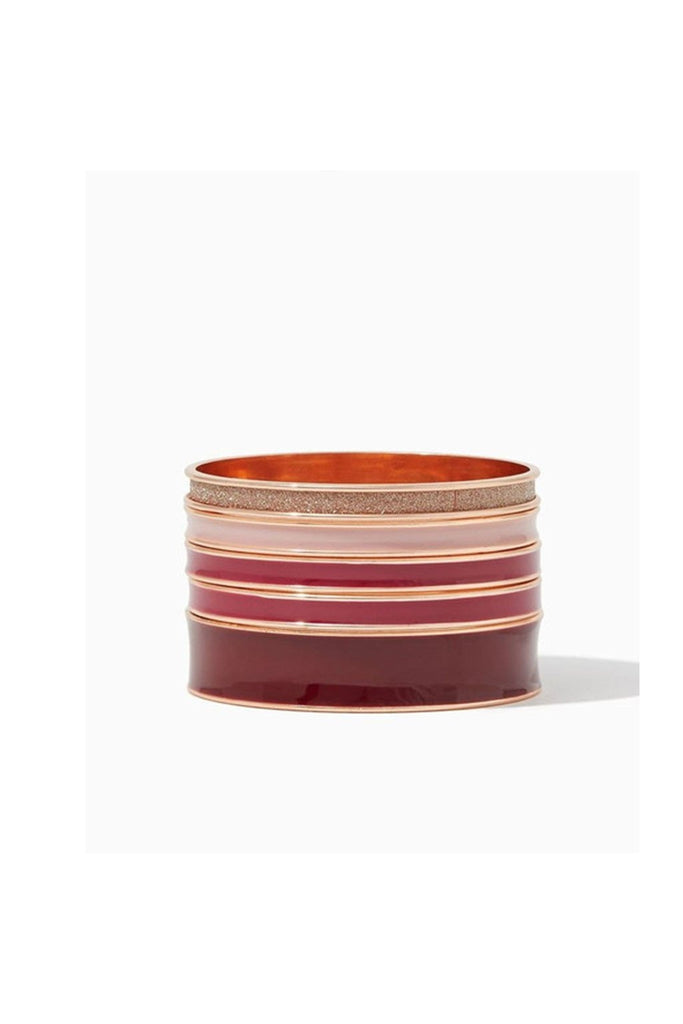 Wine & Blush Bangles-BRACELET-Fierce Finds Mobile Boutique