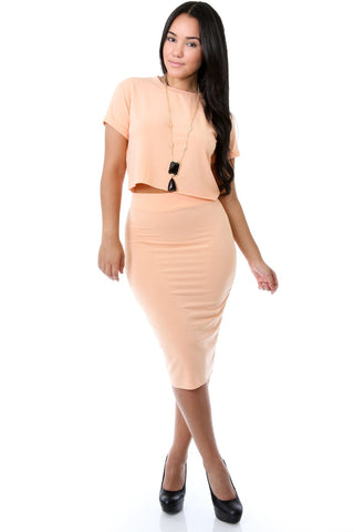 Georgia Peach Skirt Set