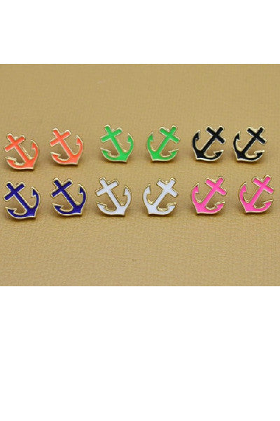 Dainty Anchor Stud Earrings - Fierce Finds Mobile Boutique  - 3