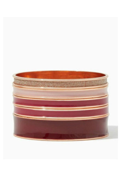 Wine & Blush Bangles - Fierce Finds Mobile Boutique  - 3