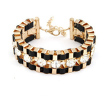 Wide Hand Woven Gold Bracelet - Fierce Finds Mobile Boutique  - 2