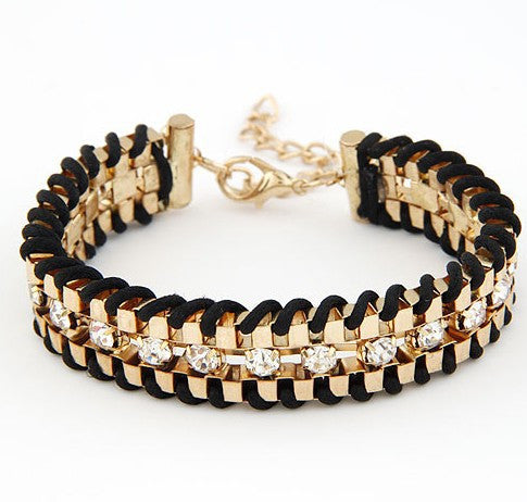 Hand-Woven Rhinestone Chain Bracelets & Bangle - Fierce Finds Mobile Boutique  - 3