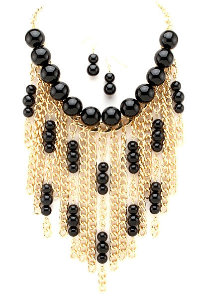 Chained Pearl Necklace - Fierce Finds Mobile Boutique  - 3