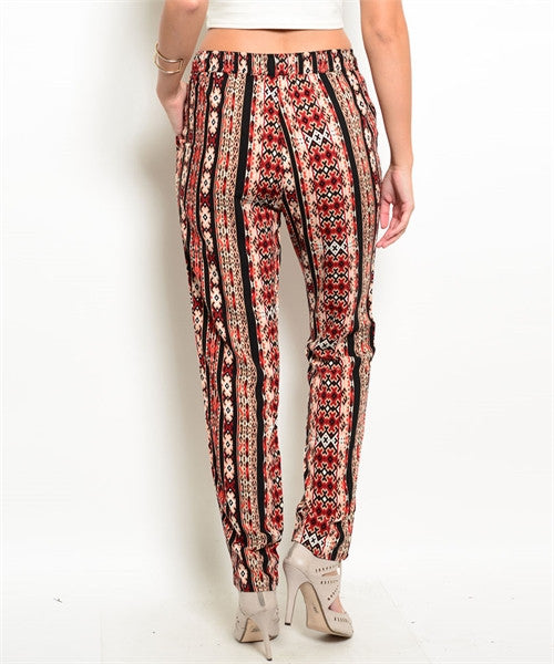 Black Print Pants - Fierce Finds Mobile Boutique  - 3