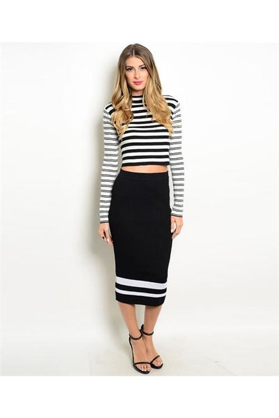 Stripe Skirt Set - Fierce Finds Mobile Boutique  - 3