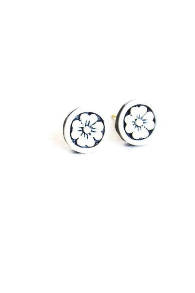 Handcrafted Flower Studs - Fierce Finds Mobile Boutique  - 2
