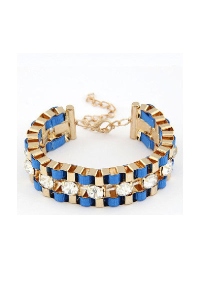 Wide Hand Woven Gold Bracelet - Fierce Finds Mobile Boutique  - 3