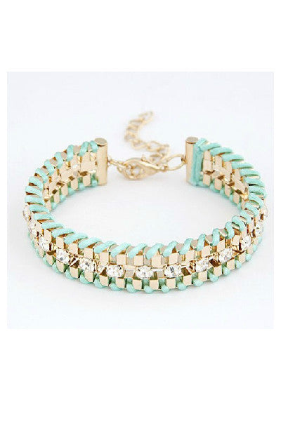 Hand Woven Rope Gold Bracelet - Fierce Finds Mobile Boutique  - 12