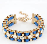 Wide Hand Woven Gold Bracelet - Fierce Finds Mobile Boutique  - 5