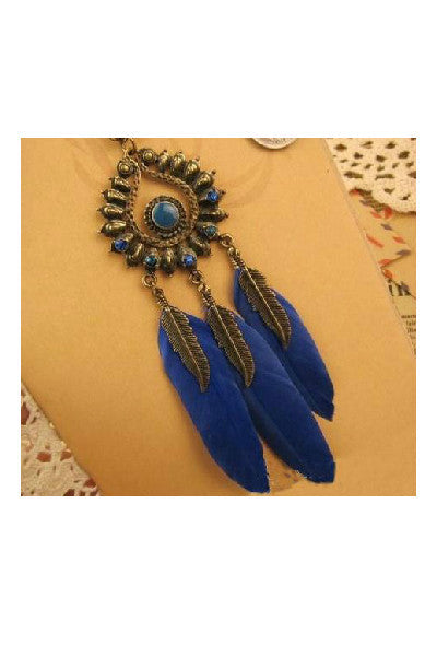 Boho Feather Long Necklace - Fierce Finds Mobile Boutique  - 2