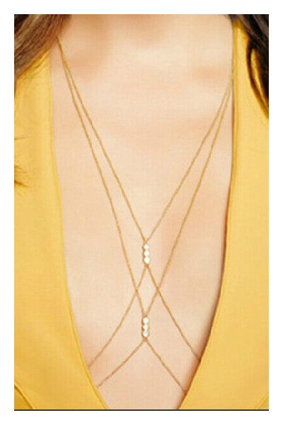 Pearl Body Harness Chain - Fierce Finds Mobile Boutique  - 2