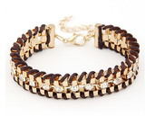 Hand Woven Rope Gold Bracelet - Fierce Finds Mobile Boutique  - 11