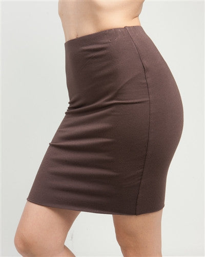 Brown Stretch Mini Skirt - Fierce Finds Mobile Boutique  - 3