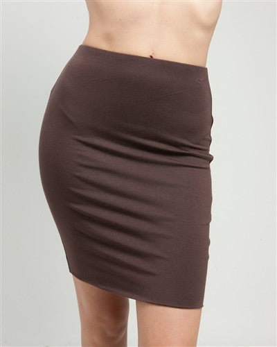 Brown Stretch Mini Skirt-Women - Apparel - Skirts - Mini-Fierce Finds Mobile Boutique