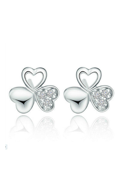 Clover Crystal Studs - Fierce Finds Mobile Boutique  - 3