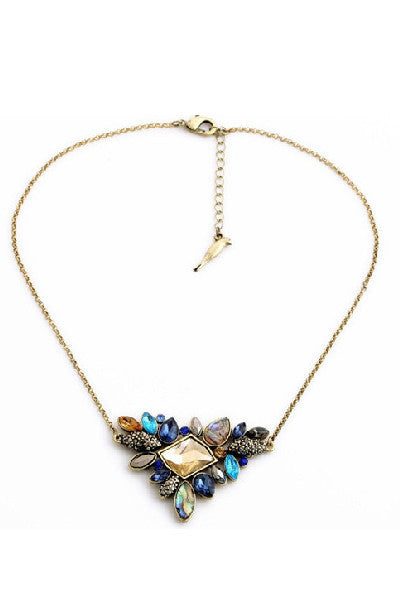 Elegant Cluster Crystal Necklace - Fierce Finds Mobile Boutique  - 2