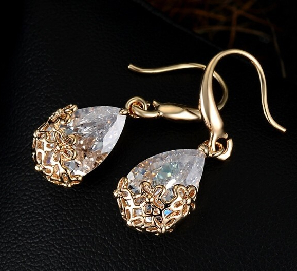 Daisy Overlay Crystal Earrings - Fierce Finds Mobile Boutique  - 1